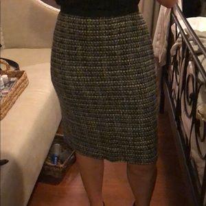Wool blend textured J Crew pencil skirt